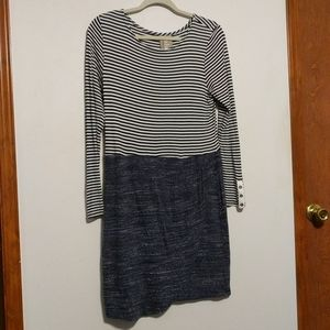 Dolan Left Coast Mixed Stripe Dress - size Medium